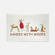 Dances w/ Woofs (female) Magnet