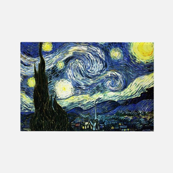 Starry Night Rectangle Magnet