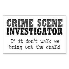 CSI Chalk Lines Rectangle Decal