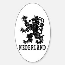 Nederland Sticker (Oval)