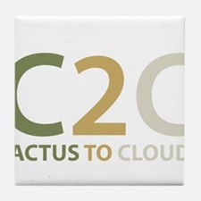 Cactus to Clouds Tile Coaster