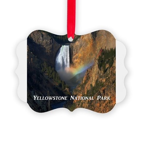 Yellowstone National Park Picture Ornament