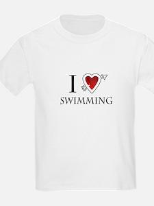 i love swimming heart T-Shirt