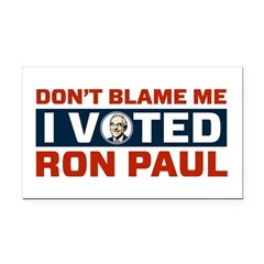 I Voted For Ron Paul Rectangle Car Magnet