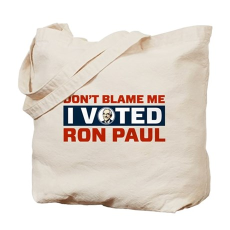 I Voted For Ron Paul Tote Bag