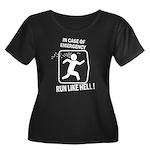 Run like hell Women's Plus Size Scoop Neck Dark T-