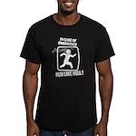 Run like hell Men's Fitted T-Shirt (dark)