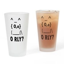 O rly Drinking Glass