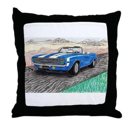 The Classic 1969' Camaro SS 396' Throw Pillow