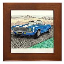 The Classic 1969' Camaro SS 396' Framed Tile