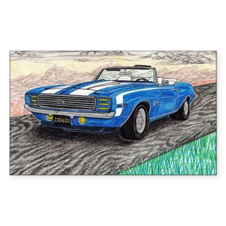The Classic 1969' Camaro SS 396' Sticker (Rectangl