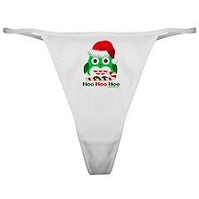 Christmas Owl Hoo Hoo Hoo Classic Thong