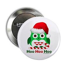 "Christmas Owl Hoo Hoo Hoo 2.25"" Button"