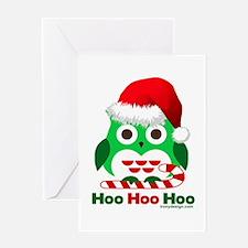 Christmas Owl Hoo Hoo Hoo Greeting Card