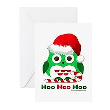 Christmas Owl Hoo Hoo Hoo Greeting Cards (Pk of 10