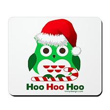 Christmas Owl Hoo Hoo Hoo Mousepad