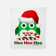 Christmas Owl Hoo Hoo Hoo Throw Blanket