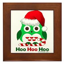Christmas Owl Hoo Hoo Hoo Framed Tile