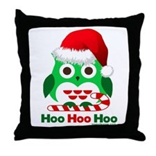 Christmas Owl Hoo Hoo Hoo Throw Pillow