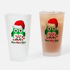 Christmas Owl Hoo Hoo Hoo Drinking Glass
