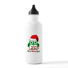 Christmas Owl Hoo Hoo Hoo Water Bottle