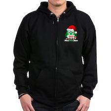Christmas Owl Hoo Hoo Hoo Zip Hoodie