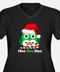 Christmas Owl Hoo Hoo Hoo Women's Plus Size V-Neck