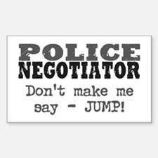 Police Negotiator Rectangle Decal