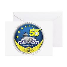 USS Enterprise At 50! Greeting Cards (Pk of 10)