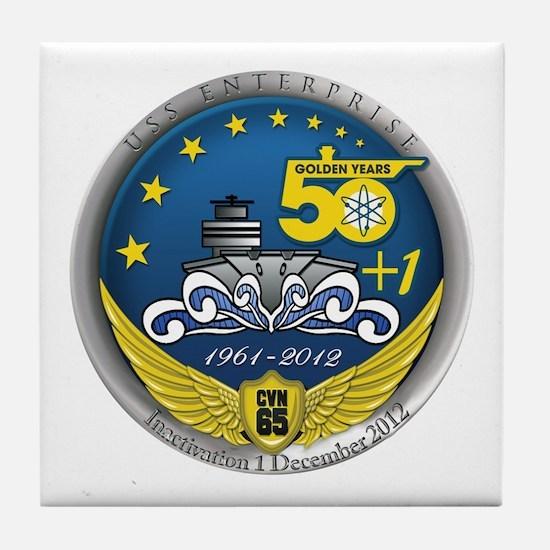 CVN 65 Inactivation! Tile Coaster
