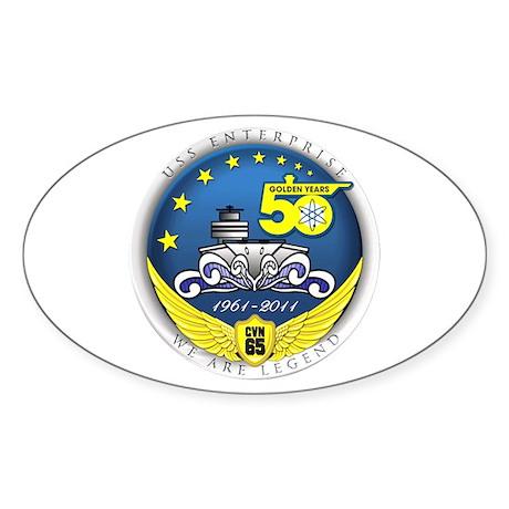USS Enterprise At 50! Sticker (Oval)