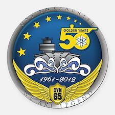 USS Enterprise At 50! Round Car Magnet