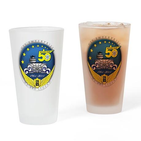 USS Enterprise At 50! Drinking Glass