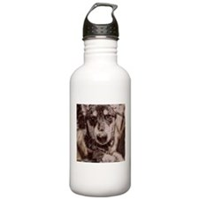 Snowdog in your Face 1 Sports Water Bottle