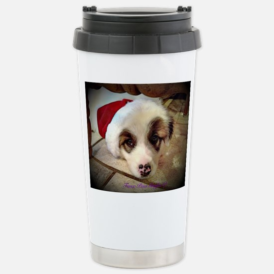 Christmas Pyrenees Stainless Steel Travel Mug