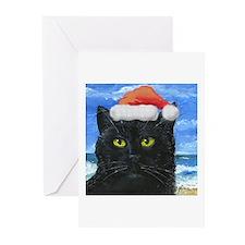 Santa Holiday Cat Greeting Cards (Pk of 20)