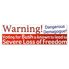 Warning: Lose Freedom Bumper Bumper Sticker
