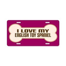 English Toy Spaniel Aluminum License Plate