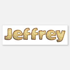 Jeffrey Toasted Bumper Bumper Bumper Sticker