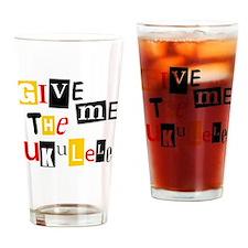 Ukulele Ransom Note Drinking Glass