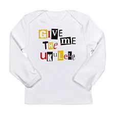 Ukulele Ransom Note Long Sleeve Infant T-Shirt
