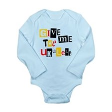 Ukulele Ransom Note Long Sleeve Infant Bodysuit