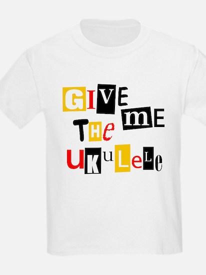 Ukulele Ransom Note T-Shirt