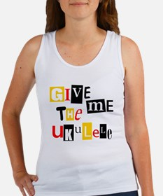 Ukulele Ransom Note Women's Tank Top
