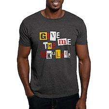 Ransom Note Ukulele T-Shirt
