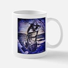 Blue Snowdog Mug