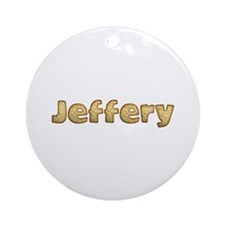 Jeffery Toasted Round Ornament