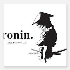 "Ronin Square Car Magnet 3"" x 3"""
