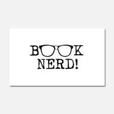 Book Nerd Car Magnet 20 x 12
