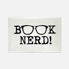 Book Nerd Rectangle Magnet